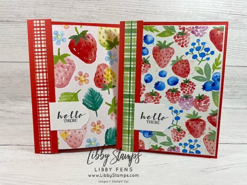 libbystamps, Stampin' Up!, Sweet Strawberry, Berry Delightful DSP, Timeless Label Punch, Ink Stamp Share Blog Hop, SAB, Saleabration, Saleabration 2021, Sale-A-Bration, Sale-a-bration 2021