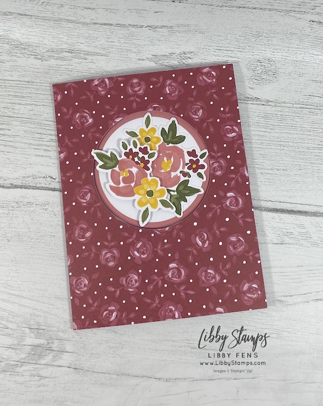 libbystamps, Stampin' Up!, February 2021 Paper Pumpkin Bouquet of Hope, Bouquet of Hope, Fun Fold, Paper Pumpkin