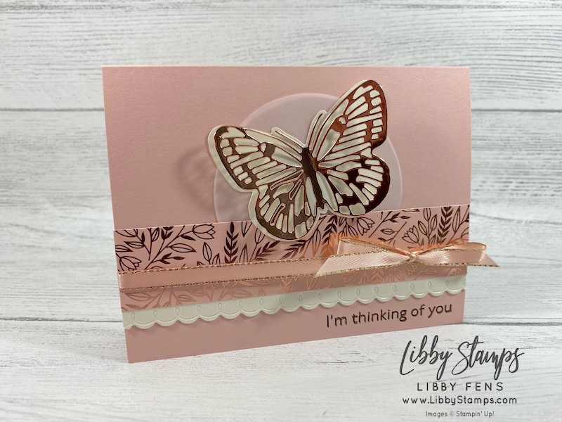 "libbystamps, Stampin' Up!, Art Gallery, Brilliant Wings Dies, Peony Dies, Layering Circles Dies, Love You Always 12"" x 12"" Specialty DSP, TSOT, Try Stampin' on Tuesday"