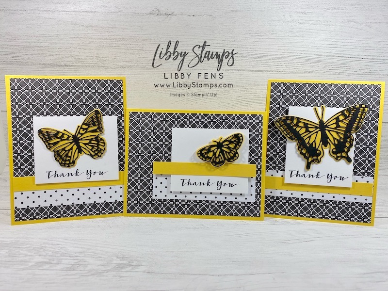 libbystamps, Stampin' Up, Sweet Strawberry, Brilliant Wings Dies, True Love DSP, Free Shipping