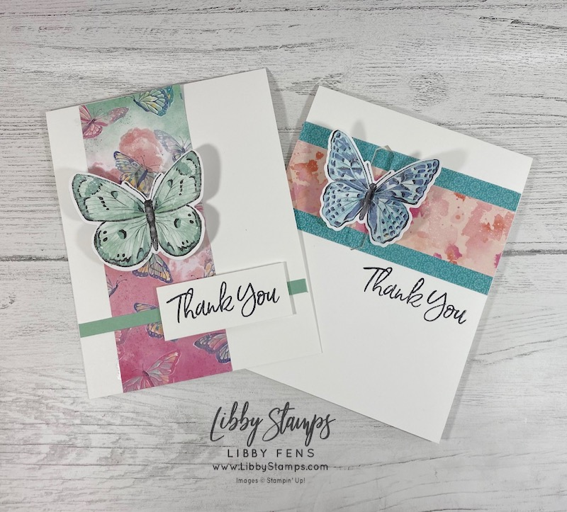 libbystamps, Stampin' Up!, Sweet Ice Cream, Brilliant Wings Dies, Butterfly Bijou DSP, Classic LabelPunch, Fun Fold Fridays, Fun Fold, Butterfly Closure