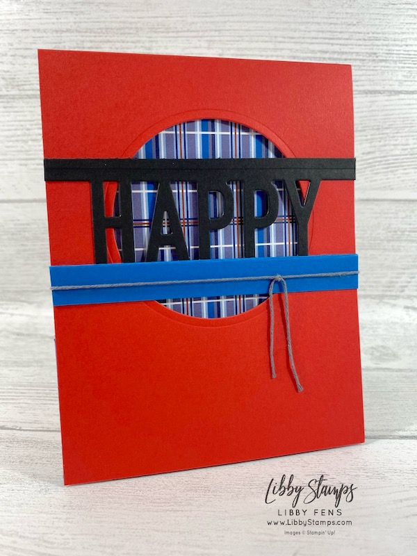 libbystamps, Stampin' Up!, So Much Happy, So Much Happy Bundle, Happy Dies, Layering Circles Dies, Well Suited DSP, Well Suited Twine Pack, Ink Stamp Share Blog Hop, Fun Fold, Pop Up Gift Card Holder