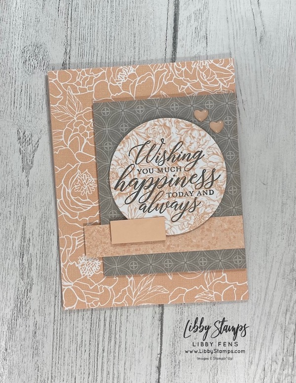 libbystamps, Stampin' Up!, So Sentimental, Layering Circles Dies, Peony Garden DSP, CCMC, Create with Connie and Mary