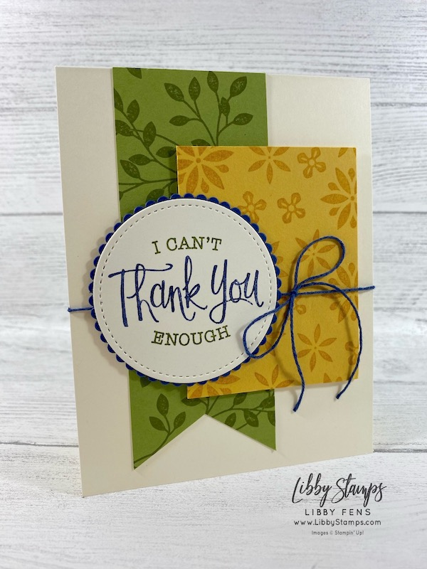 libbystamps, Stampin' Up!, Vine Design, So Sentimental, Layering Circles Dies, Stitched Shapes Dies, Well Suited Twine Combo Pack, Stamparatus, CCMC, Create with Connie and Mary