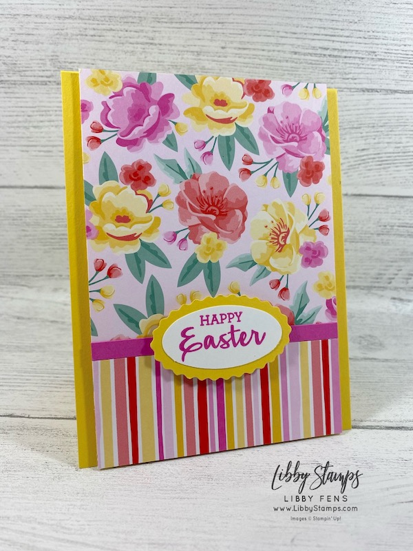 libbystamps, Stampin' Up!, Arrange a Wreath, Flowers For Every Season DSP, Double Oval Punch, Easter, Stamping INKspirations