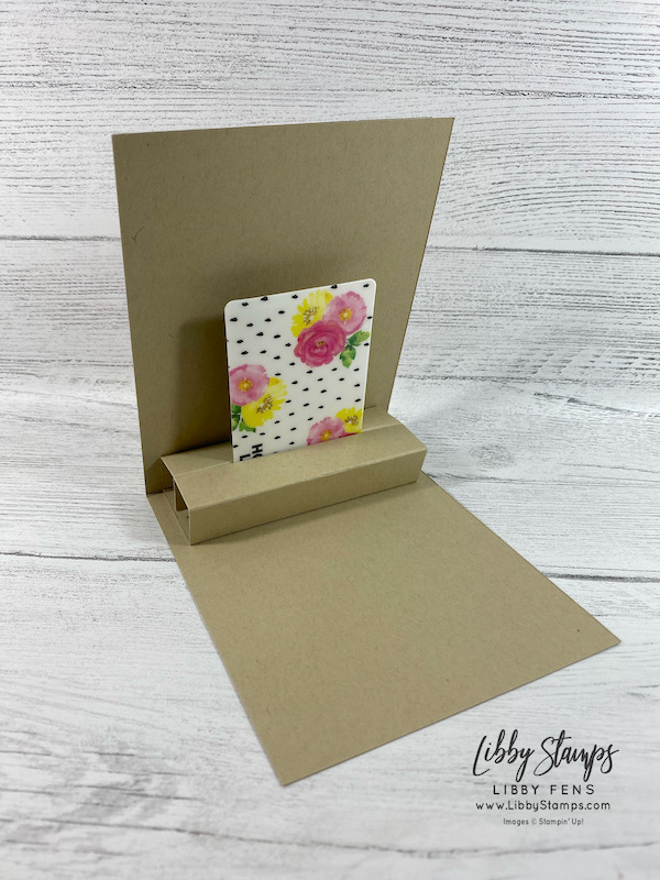 libbystamps, Stampin' Up!, Sweet Ice Cream, Pale Papaya, Fresh Freesia, Polished Pink, Soft Succulent, Evening Evergreen, Stamping INKspirations, gift card holder