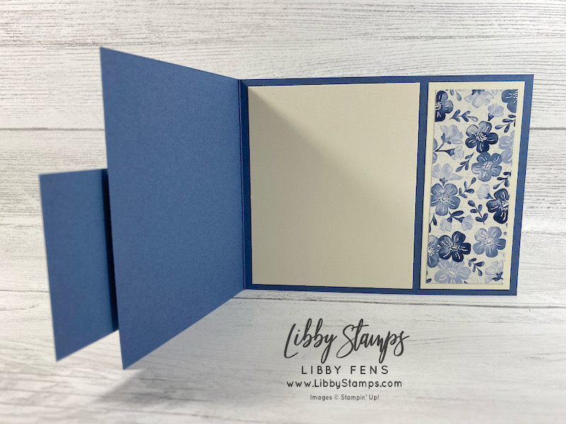 libbystamps, Stampin' Up!, Flowers of Friendship, Stitched Shapes Dies, Boho Indigo Product Medley, Fun Fold Fridays, Fun Fold