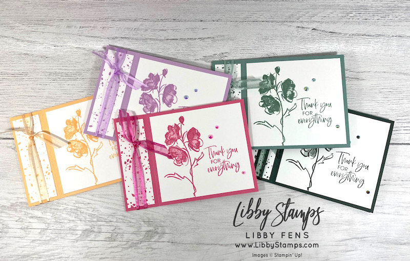 libbystamps, Stampin' Up!, Color & Contour, Pale Papaya, Fresh Freesia, Polished Pink, Soft Succulent, Evening Evergreen, Ink Stamp Share Blog Hop, Book Fold, 2021-2023 In Color Jewels