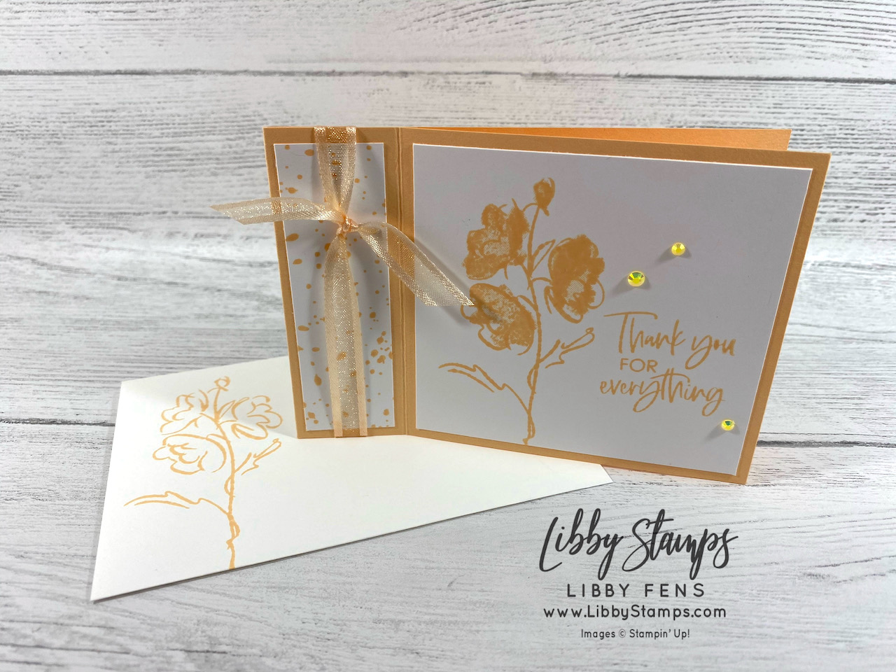 libbystamps, Stampin' Up!, Color & Contour, Pale Papaya, Ink Stamp Share Blog Hop, Book Fold, 2021-2023 In Color Jewels