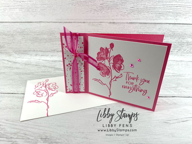 libbystamps, Stampin' Up!, Color & Contour, Polished Pink, Ink Stamp Share Blog Hop, Book Fold, 2021-2023 In Color Jewels