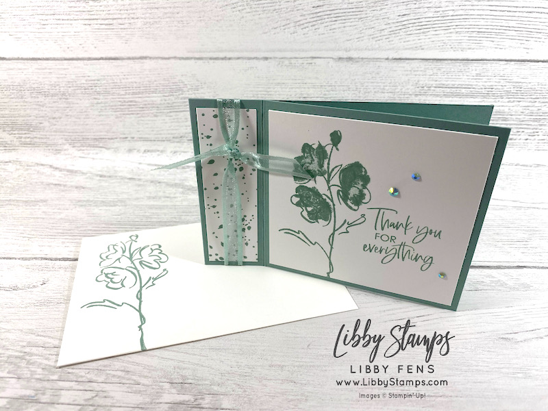libbystamps, Stampin' Up!, Color & Contour, Soft Succulent, Ink Stamp Share Blog Hop, Book Fold, 2021-2023 In Color Jewels