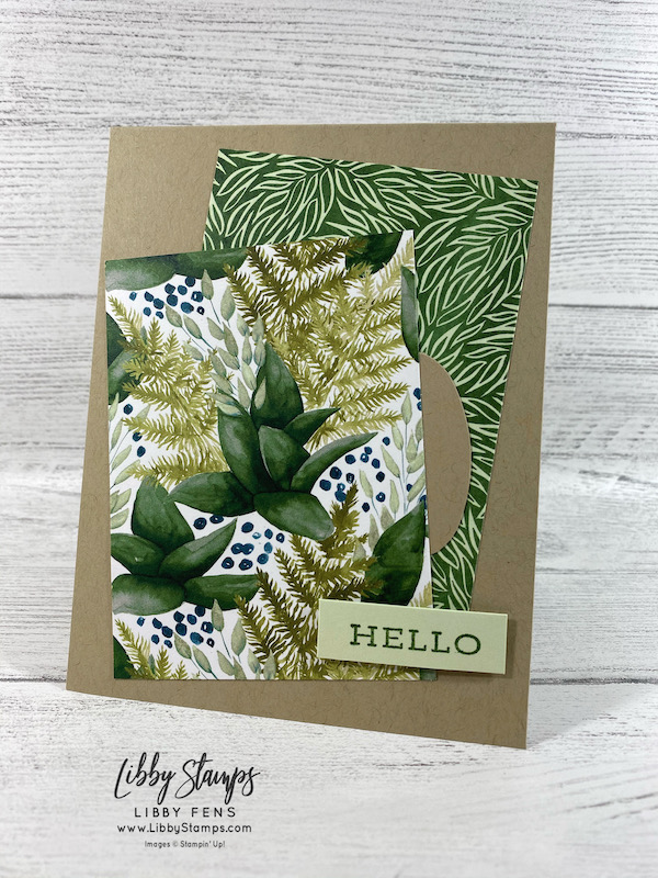 libbystamps, Stampin' Up!, Forever Fern, Forever Greenery DSP, Double Oval Punch, TSOT, Try Stampin' on Tuesday