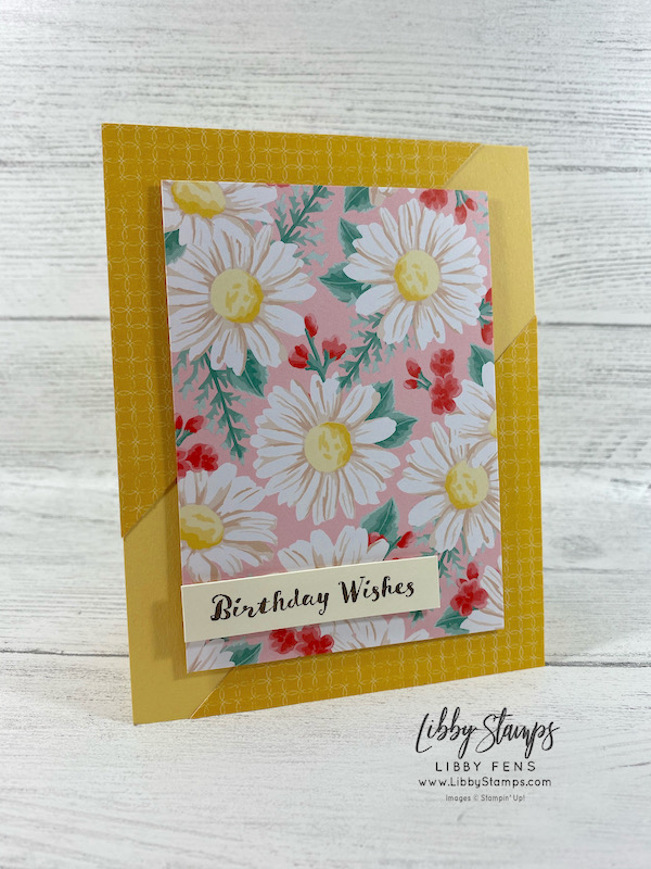 libbystamps, Stampin' Up!, Itty Bitty Birthdays, Flowers For Every Season DSP, TSOT, Try Stampin' on Tuesday