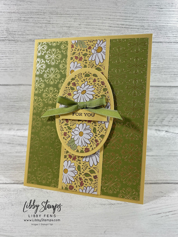 libbystamps, Stampin' Up!, Four Seasons, Layering Ovals Dies, Stitched Shapes Dies, Ornate Garden DSP, Ornate Garden Ribbon Combo Pack, TSOT, Try Stampin' on Tuesday