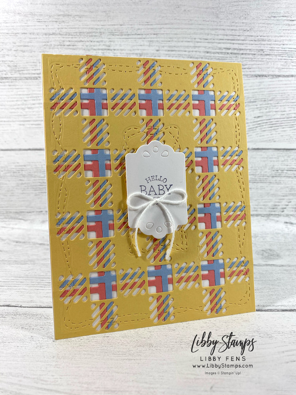 libbystamps, Stampin' Up!, So Sentimental, Best Plaid Builder Dies, Trio of Tags Dies, Stitched With Whimsy Dies, Snail Mail Twine Combo Pack, CCMC, Create with Connie and Mary
