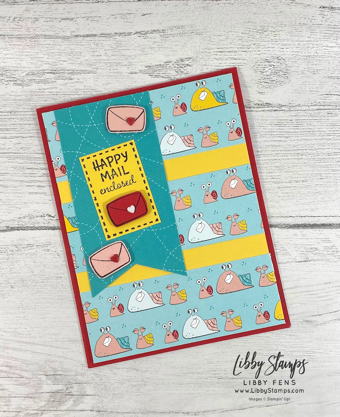 libbystamps, Stampin' Up!, Snailed It, Snail Mail DSP, Resin Hearts, AHSC, Atlantic Hearts Sketch Challenge
