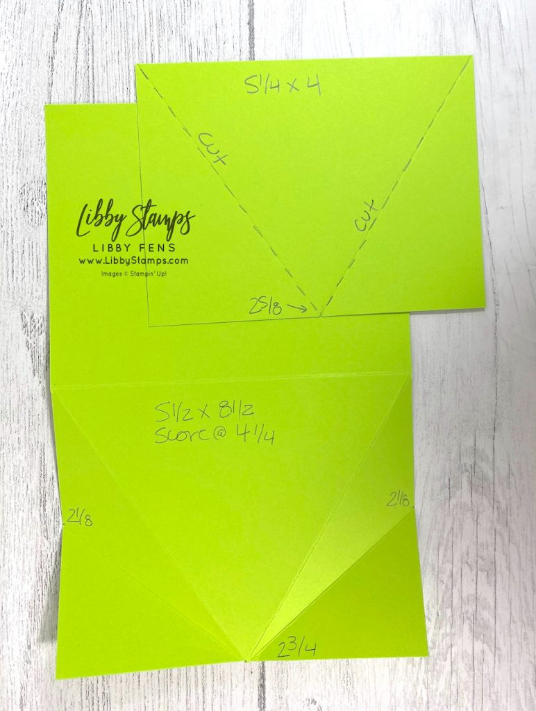 libbystamps, Stampin' Up, Sweet As A Peach, You're A Peach DSP, Arrow Fold, Fun Fold, , Fun Fold Fridays