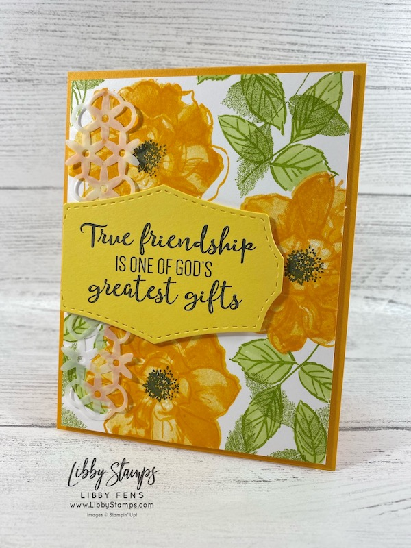 libbystamps, Stampin' Up!, To a Wild Rose, Wild Rose Dies, BFBH, Blogging Friends Blog Hop, friendship