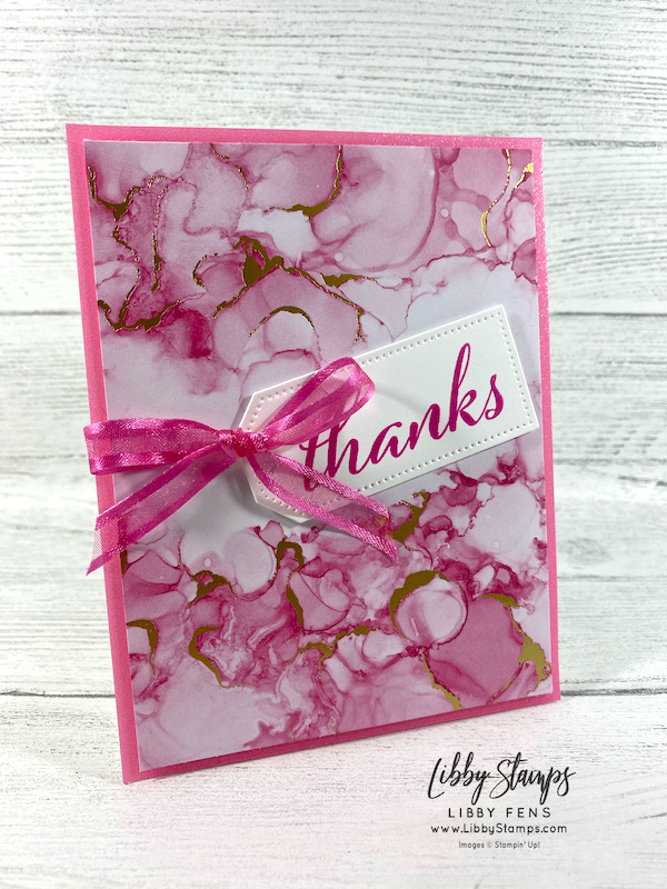 """libbystamps, Stampin' Up!, Artistically Inked, Tailor Made Tags Dies, Expressions In Ink Specialty DSP, 2021-2023 In Color Shimmer Vellum, Polished Pink 3/8"""" Open Weave Ribbon, CCM, Create with Connie and Mary Saturday Blog Hop, Create with Connie and Mary"""