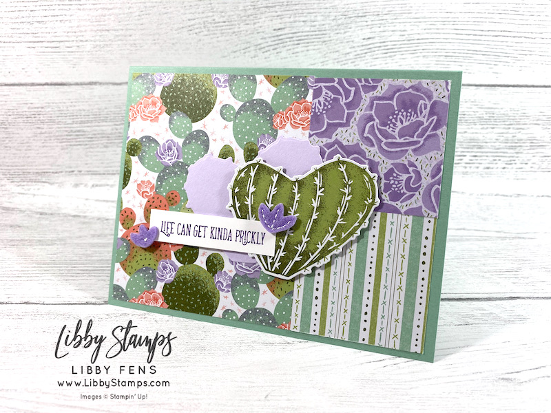 libbystamps, Stampin' Up, Flowering Cactus, Flowering Cactus Dies, Flowering Cactus Bundle, Flowering Cactus, Flowering Cactus Product Medley, AHSC, Atlantic Hearts Sketch Challenge