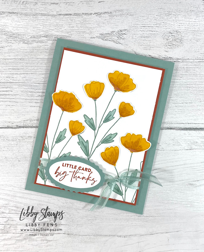 """libbystamps, Stampin' Up!, CCMC, Create with Connie and Mary Challenges, Flowers of Friendship, Soft Succulent, Double Oval Punch, Soft Succulent Ribbon 3/8"""" Open Weave Ribbon"""