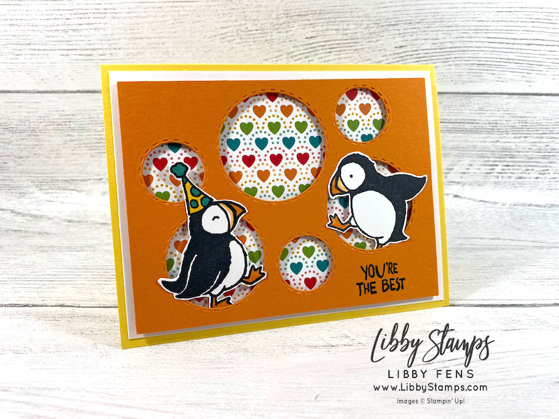 Party Puffins, Picture This Dies, Pattern Party DSP, Stamparatus, Ink Stamp Share Blog Hop