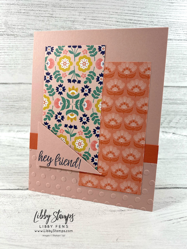 libbystamps, Stampin' Up!, In Symmetry, Checks & Dots Embossing Folder, Sweet Symmetry, TSOT, Try Stampin' on Tuesday, SWAPS