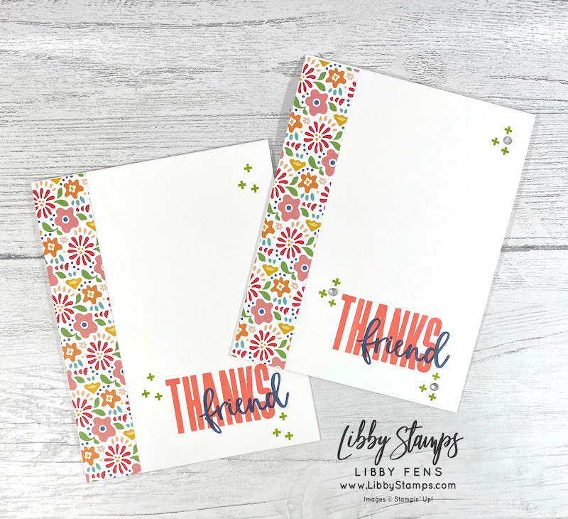 libbystamps, Stampin' Up, Biggest Wish, Pattern Party DSP, Rhinestone Basic Jewels, BFBH, Blogging Friends Blog Hop