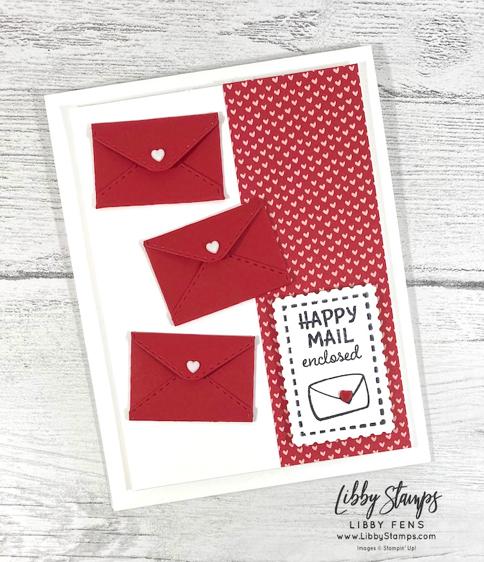 libbystamps, Stampin' Up, Snailed It, Snailed ItBundle, Snail Dies, Snail Mail DSP, Rectangle Postage Stamp Punch, Resin Hearts, TSOT, Try Stampin' on Tuesday