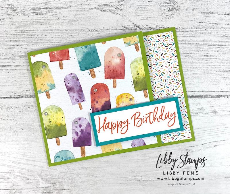 libbystamps, Stampin' Up, Sweet Ice Cream, Ice Cream Corner DSP, Rhinestone Basic Jewels, Stamping INKspirations, Stamping INKspirations Blog Hop