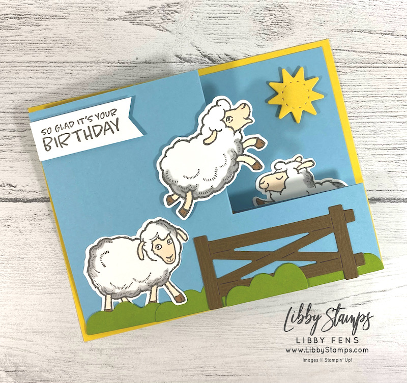 libbystamps, Stampin' Up, Counting Sheep, Sheep Dies, Stamparatus, Stampin' Blends, Silver to Silver Elite Blog Hop, Pull Out Fun Fold, Fun Fold, Fun Fold Fridays, Fall Sale-a-bration 2021, Sale-a-bration 2021, Sale-a-Bration 2nd Release