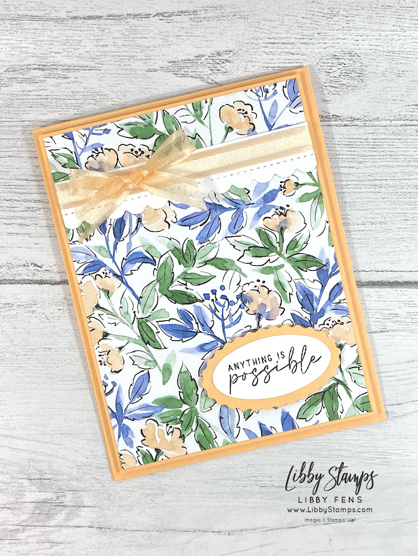 libbystamps, Stampin' Up, Hand-Penned Petals, Hand-Penned Petals Bundle, Hand-Penned Suite, Hand-Penned DSP, Double Oval Punch, TSOT, Try Stampin' on Tuesday