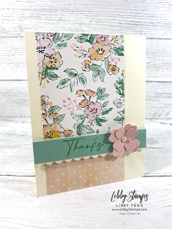 libbystamps, Stampin' Up, Hand-Penned Petals, Hand-Penned Petals Bundle, Hand-Penned PetalsSuite, Penned Flowers Dies, Hand-Penned DSP, Flowers & Leaves Punch, Mini Stampin' Cut & Emboss Machine, Ink Stamp Share, Ink Stamp Share Blog Hop, Beginner Casual Avid Crafter