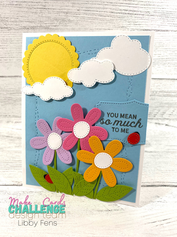 libbystamps, Stampin' Up, In Bloom, Pierced Blooms Dies, Give It a Whirl Dies, Stitched With Whimsy Dies, Make The Cards Challenge, MTCC