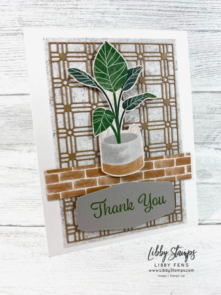 libbystamps, Stampin' Up, Plentiful Plants, Tasteful Labels Dies, Bloom Where You Are Planted Suite, Bloom Where You Are Planted DSP, Paper Lattice, TSOT, Try Stampin' on Tuesday