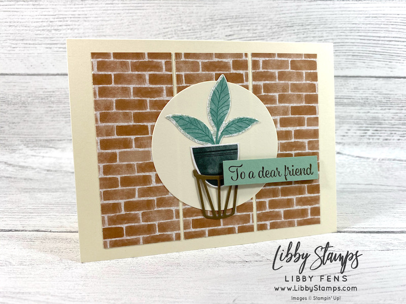 libbystamps, Stampin' Up, Plentiful Plants, Plentiful Plants Bundle, Perfect Plants Dies, Layering Circles Dies, Bloom Where You Are Planted DSP, CCMC, Create with Connie and Mary, Create with Connie and Mary Challenges
