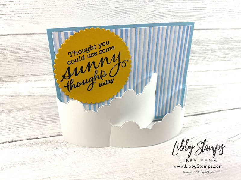 libbystamps, Stampin' Up, Sunny Sentiments, Basic Border Dies, Layering Circle Dies, You're A Peach DSP, Stamparatus, TSOT, Try Stampin' on Tuesday
