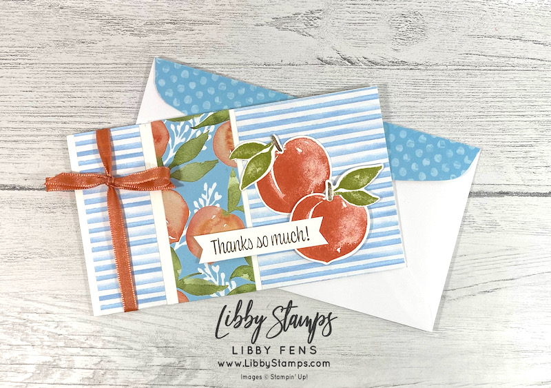 libbystamps, Stampin' Up, Sweet As A Peach, Sweet As A Peach Bundle, Peach Dies, You're A Peach DSP, Stamping With Friends Blog Hop, Book Fold