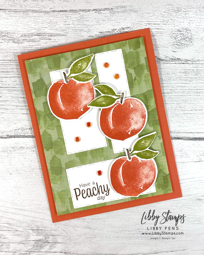 libbystamps, Stampin' Up, Sweet As A Peach, Sweet As A Peach Bundle, Picture This Dies, Peach Dies, You're A Peach DSP, Artistry Blooms Adhesive Baked Sequins, CCMC, Create with Connie and Mary, Create with Connie and Mary Challenges