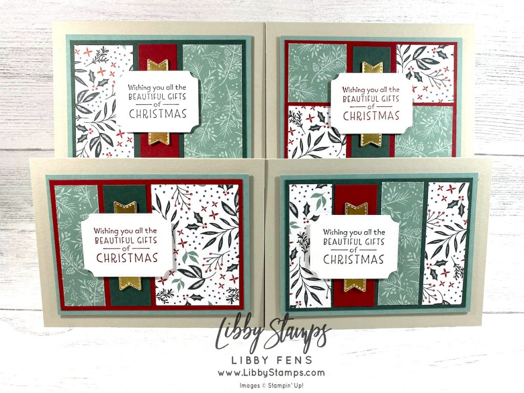 libbystamps, Stampin' Up, Inspired Thoughts, Tasteful Labels Dies, Tidings of Christmas DSP, One Sheet, Christmas in July, CCM, Create with Connie and Mary, Create with Connie and Mary Saturday Blog Hop