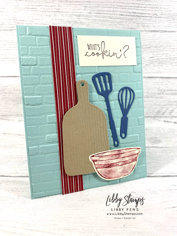 libbystamps, Stampin' Up!, What's Cookin', What's Cookin' Bundle, Cookin' Dies, Tidings of Christmas DSP, AHSC, Atlantic Heart Sketch Challenge
