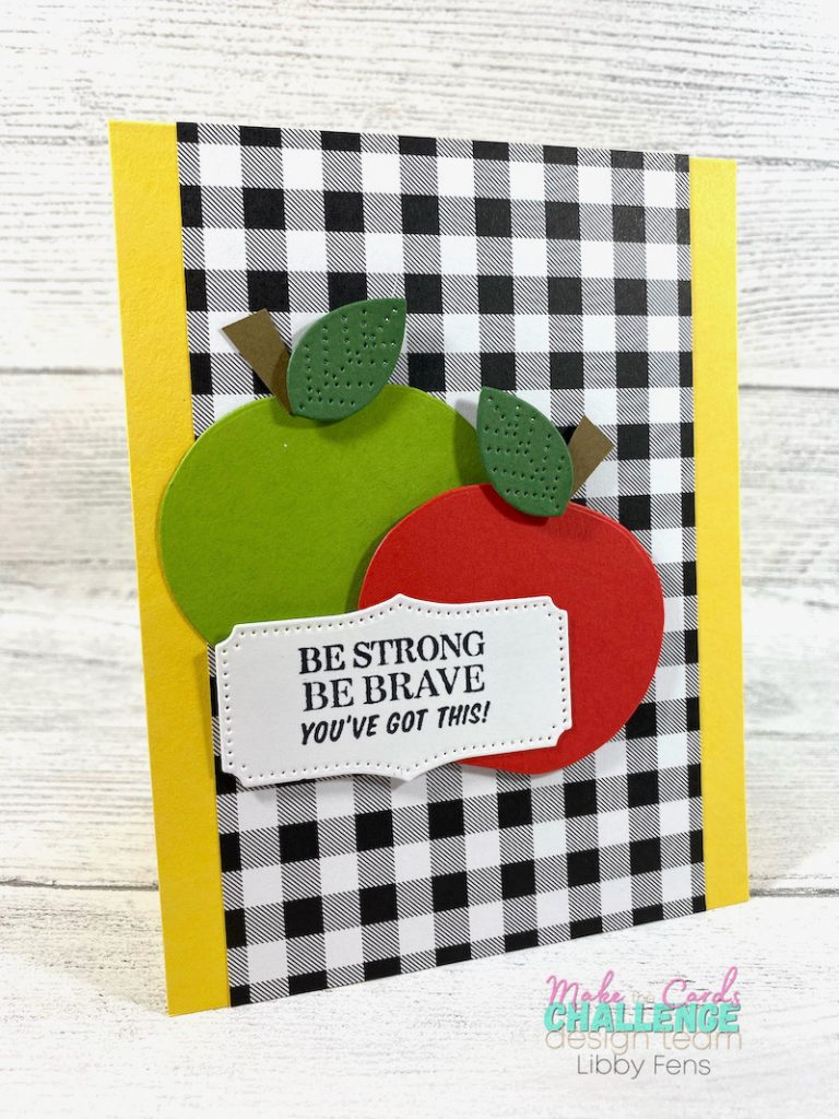 libbystamps, Stampin' Up, Many Messages, Detailed Pumpkins Dies, Pierced Blooms Dies, Pattern Party DSP, Stamparatus, back to school, MTCC, Make The Cards Challenge