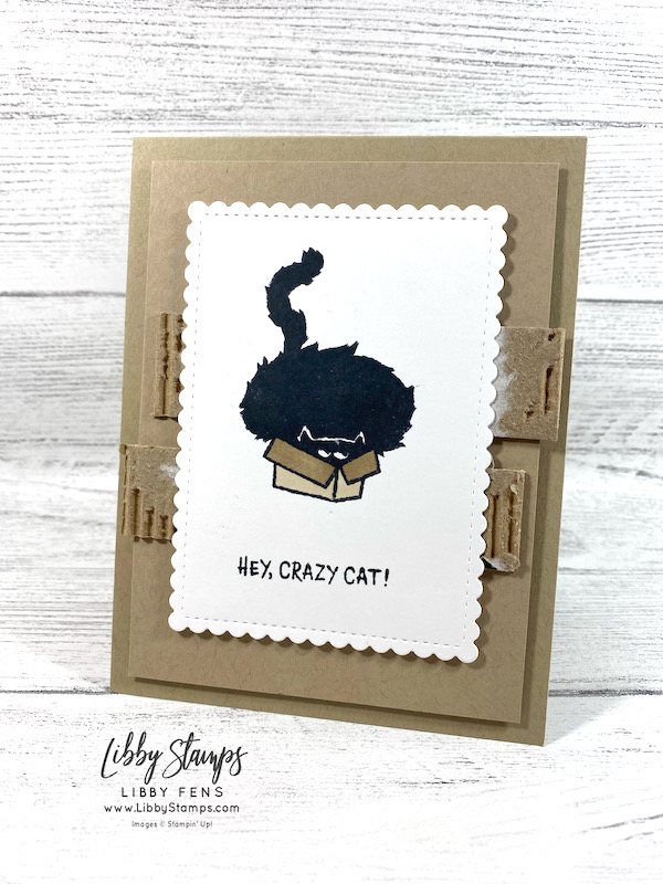libbystamps, Stampin' Up, Clever Cats, Scalloped Contours Dies, Stamparatus, Stampin Blends, cat card, AHSC, Atlantic Hearts Sketch Challenge