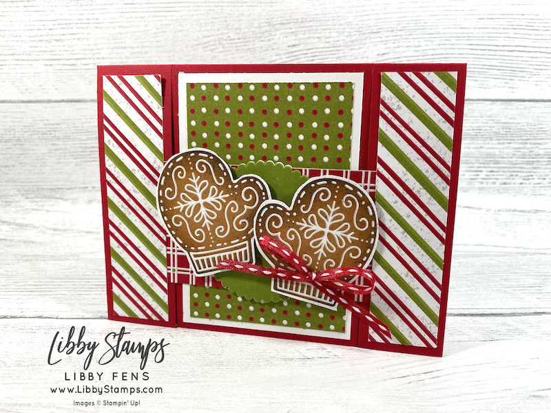 libbystamps, Stampin Up, Encircled In Warmth, Layering Circles Dies, Gingerbread & Peppermint DSP, Playful Pets Trim Combo Pack, Stamping With Friends Blog Hop, Spanner Card
