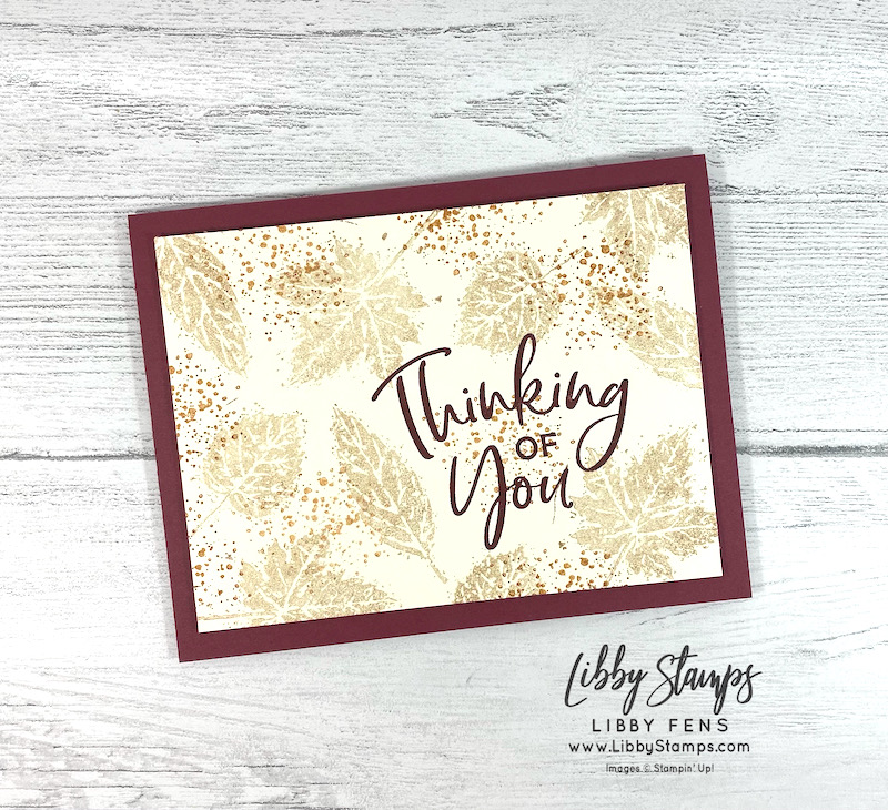 libbystamps, Stampin Up, Thinking Thanks & Peace, Gorgeous Leaves, Stamping INKspirations, Stamping INKspirations Blog Hop, clean & simple