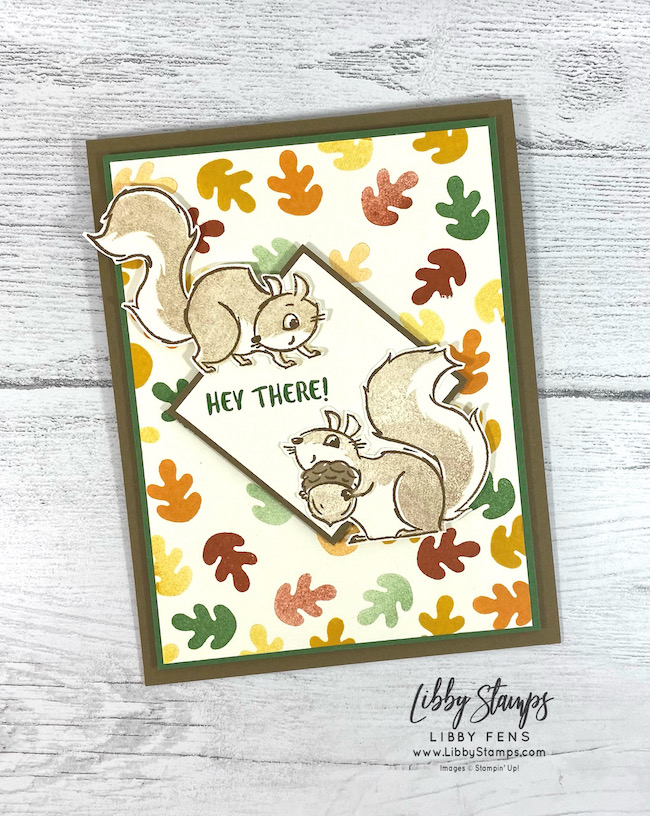 libbystamps, Stampin' Up, Nuts About You, Fall Card, Atlantic Hearts Sketch Challenge, AHSC