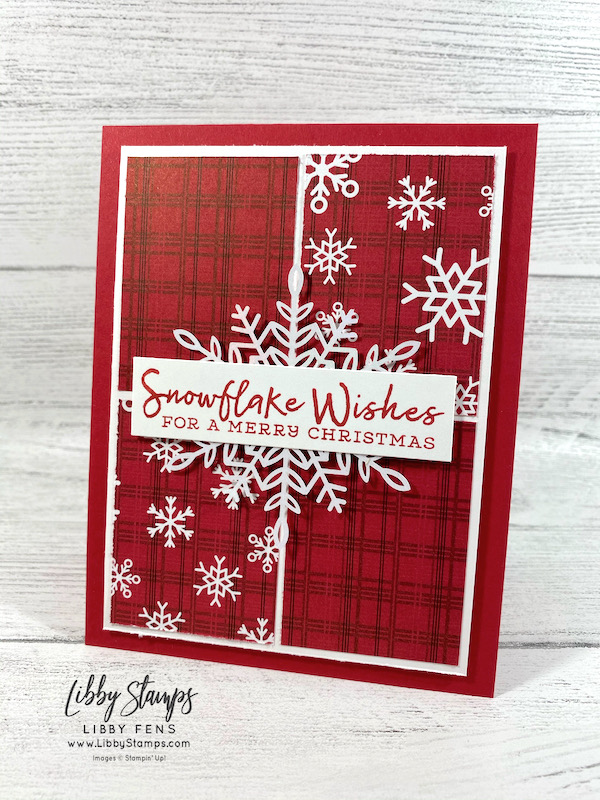 libbystamps, Stampin' Up, Snowflake Wishes, Peaceful Prints DSP, Wonderful Snowflakes, Fall Sale-a-bration 2021, Sale-A-Bration, Sale-a-bration 2021, Sale-a-Bration 2nd Release, Crafty Challenge Blog Hop