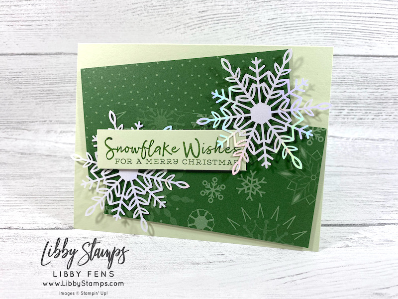 libbystamps, Stampin' Up, Snowflake Wishes, Peaceful Prints DSP, Wonderful Snowflakes, SAB, Fall Sale-a-bration 2021, Sale-A-Bration, Sale-a-bration 2021, Saleabration, CCMC, Create with Connie and Mary Challenges, Create with Connie and Mary