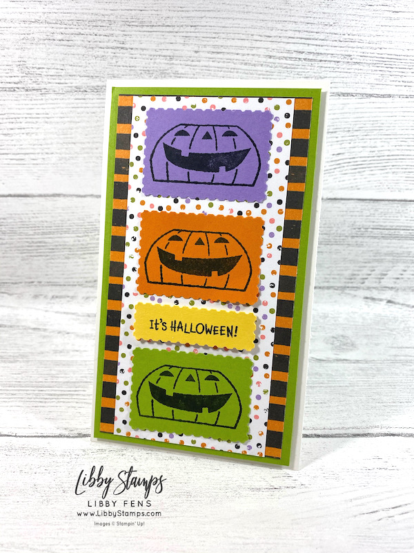 libbystamps, Stampin' Up, Clever Cats, Cute Halloween DSP, Rectangular Postage Stamp Punch, CCM, Create with Connie and Mary, Create with Connie and Mary Saturday Blog Hop