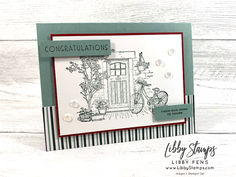 libbystamps, Stampin' Up, Feels Like Home, Inspired Thoughts, Tidings & Trimmings, Tidings of Christmas DSP, Stamparatus, Stamping INKspirations, Stamping INKspirations Blog Hop, SAB, Fall Sale-a-bration 2021, Sale-A-Bration, Sale-a-bration 2021, Saleabration, Saleabration 2021